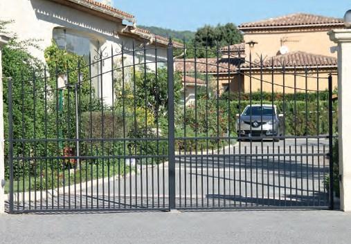 Portail acier battant ou coulissant électrique motorisé Avignon Vaucluse