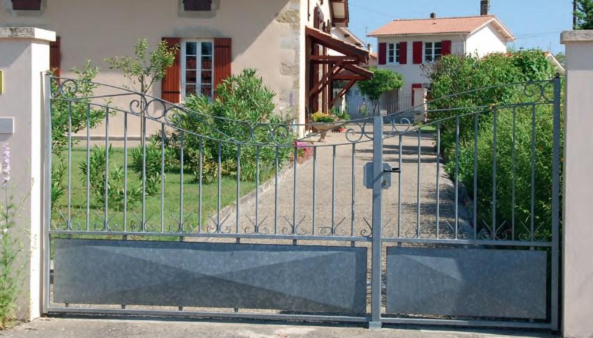 Portail acier battant ou coulissant électrique motorisé Aix Marseille