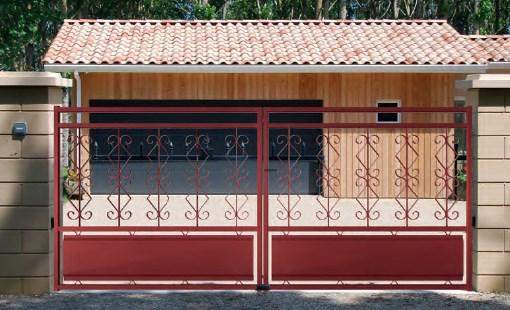 Portail acier battant ou coulissant électrique motorisé Toulon Var Brignoles