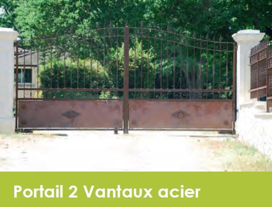 Clôtures acier battant électrique motorisé Aix Marseille Toulon Nice